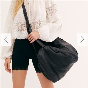 New free people sid distressed leather tote bag